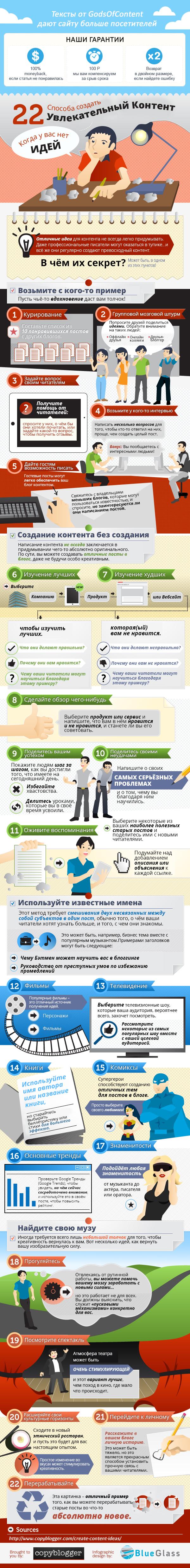 1-инфографика. 22 способа создать увлекательный контент